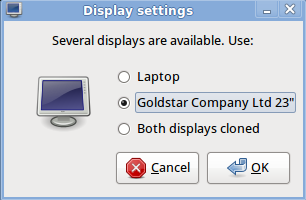 Display Settings Window